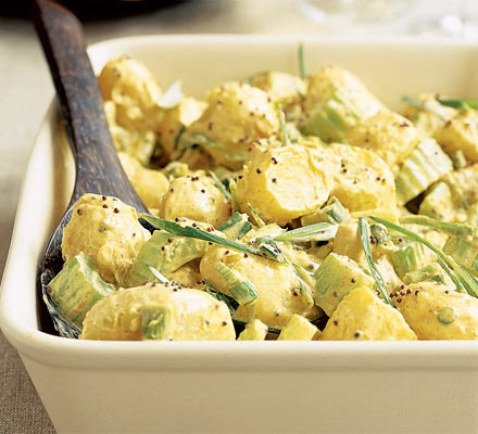 Potato salad with curried mayo