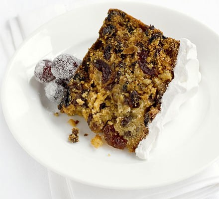 Honey saffron Christmas cake