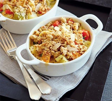 Wintry vegetable crumbles