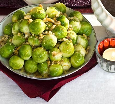 Crisp-topped sprouts