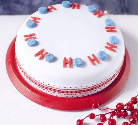 Ho, Ho, Ho, Merry Christmas cake