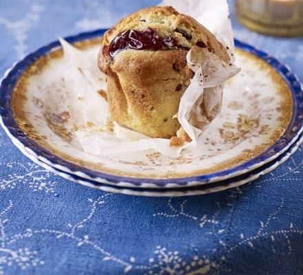 Cherry choc muffins