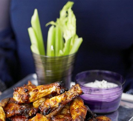 Celery sticks with blue cheese dip