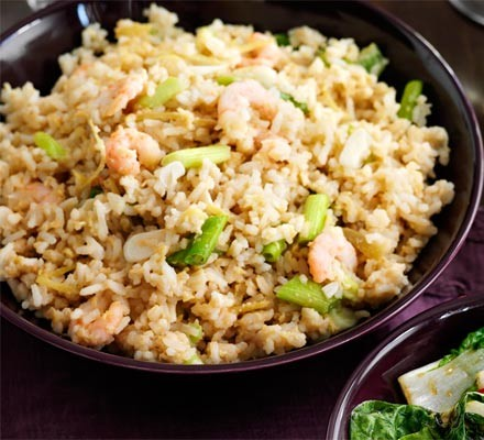 Fried rice with egg & ginger