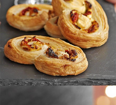 Red pepper, walnut & goat's cheese palmiers