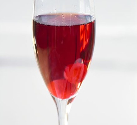 Cherry vodka fizz