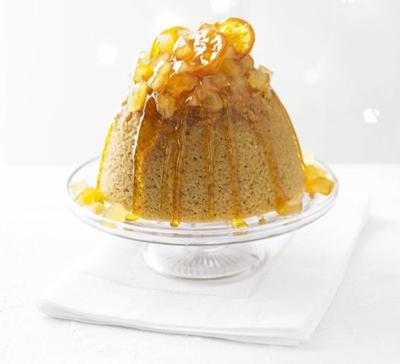 Ginger treacle sponge