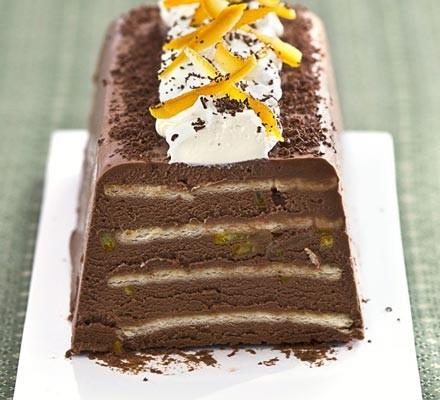 Chocolate orange & Grand Marnier truffle cake