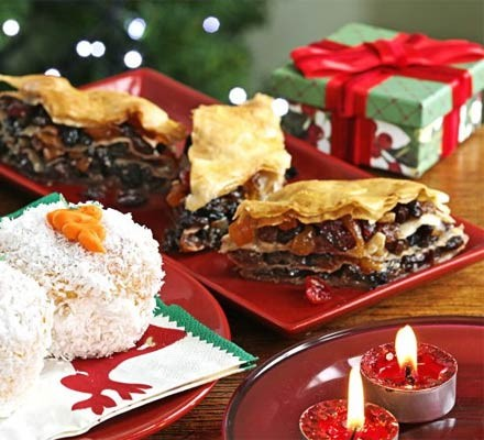 Santa's mince pie diamonds