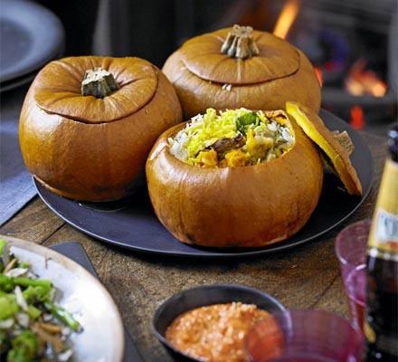 Pumpkin biryani
