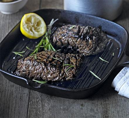 Marinated bavette steak