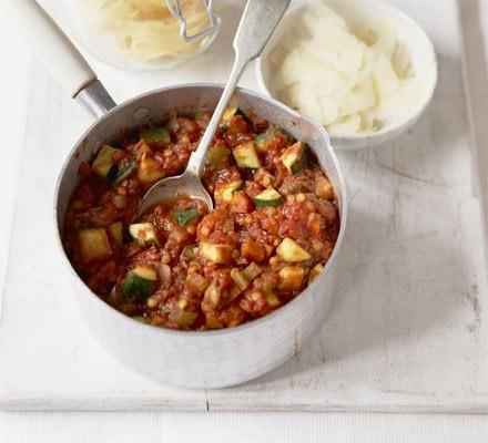 Tagliatelle with vegetable ragu