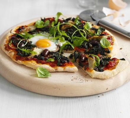 Florentine dairy-free pizza