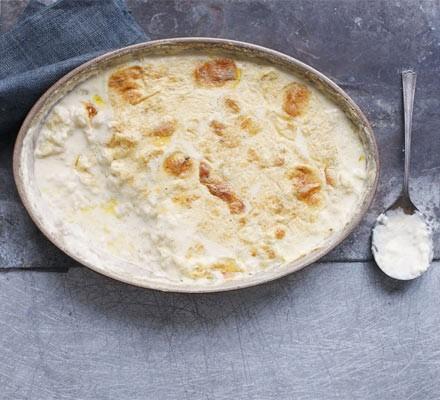 Baked lemon & vanilla rice pudding