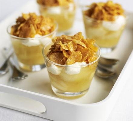 Apple & cornflake pots
