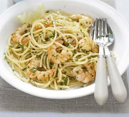 Lemon & parsley spaghetti