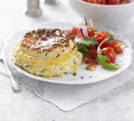 Twice-baked cheese soufflés