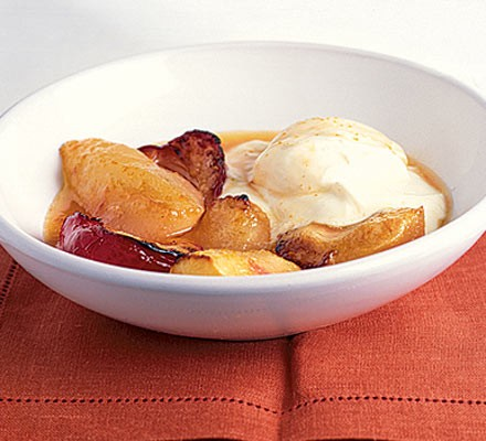Cranberry & marzipan baked apples