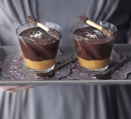 Salted caramel choc pots