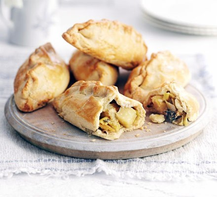 Leek, cheese & potato pasties