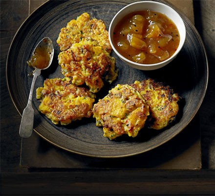 Spiced swede fritters
