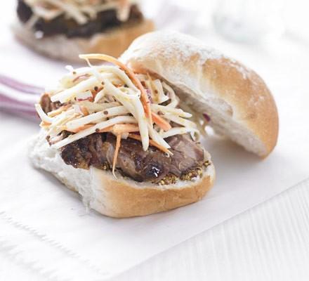 Pork & slaw sandwiches