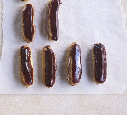 Double chocolate eclairs