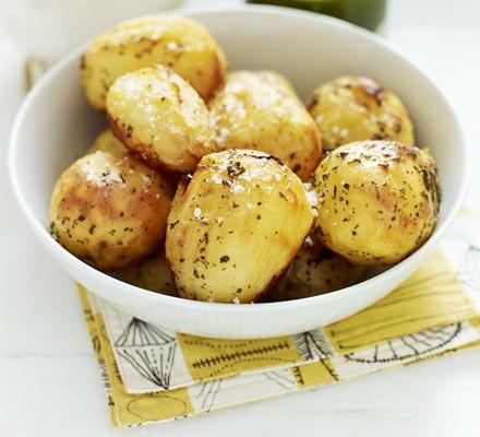 Lemony stoved potatoes