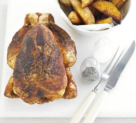 BBQ roast chicken & chunky chips