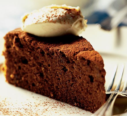 Seriously rich chocolate cake