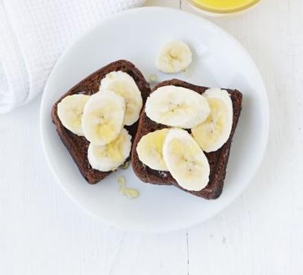 Malt loaf with banana & honey