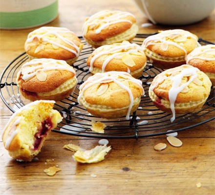 Cherry & almond tarts