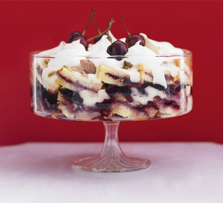 Mary's royal cherry trifle