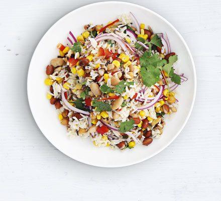 Mixed bean & wild rice salad image