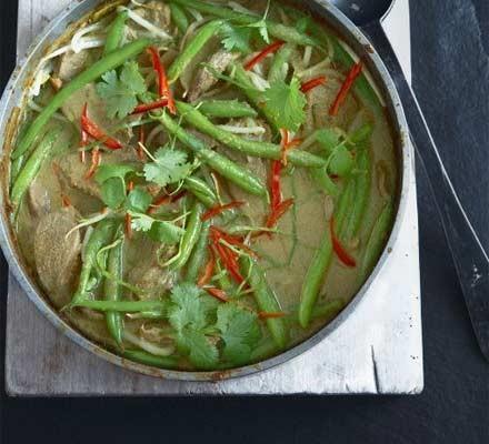 French bean & duck Thai curry