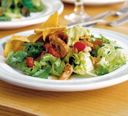 Cajun turkey salad with guacamole