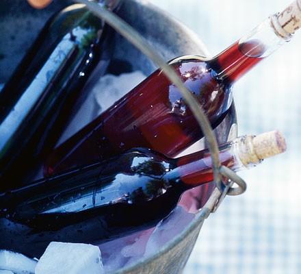 Sangria in ice bucket