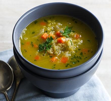 Red lentil & carrot soup