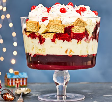 Retro trifle in dessert glass