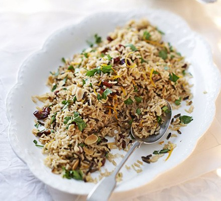 Jewelled wild rice with almonds