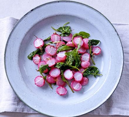Simple roast radishes