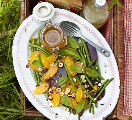 Beetroot, orange & hazelnut salad