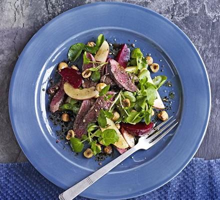 Pigeon & beetroot salad