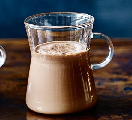Salted caramel rum hot chocolate