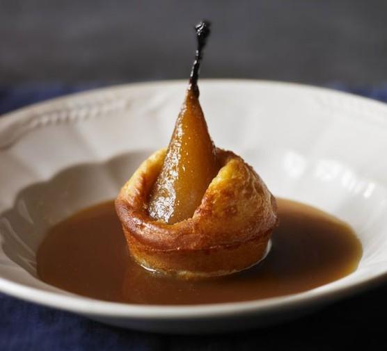 Salted caramel pear puffs