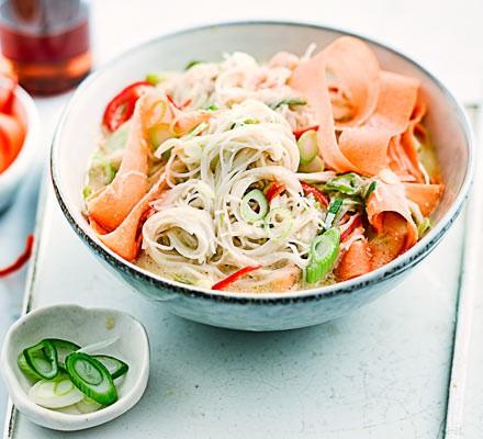 Satay noodle soup