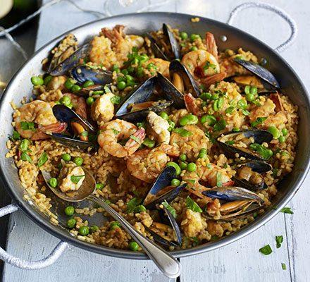Seafood paella image