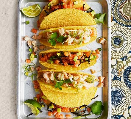 Mix & match seafood tacos
