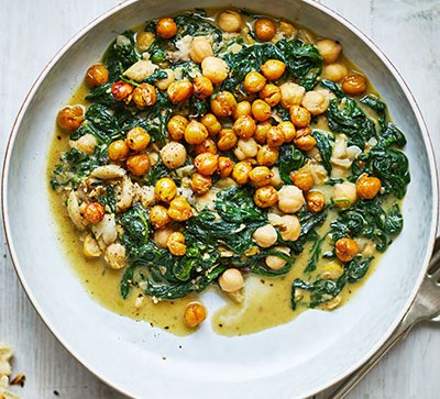 chickpea dhal in white bowl