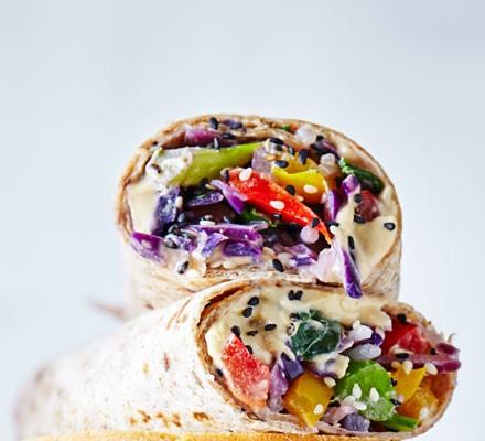 Sesame stir-fry wrap